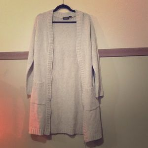 Sweaters - Long cream coloured knitted sweater